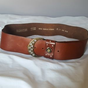 Diesel brown leather belt size 90/36 made in Italy